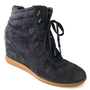 b090c63e4e38 Sam Edelman Shoes - SAM EDELMAN Bennett High Top Wedge Sneaker Navy